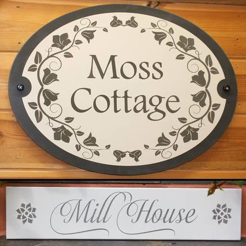 Painted and Engraved Slate House Signs   The Sign Maker Shop
